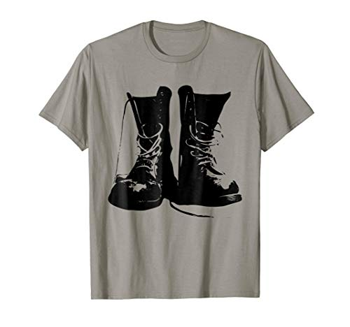Grunge Rock Boots Shirt 90s Punk Rocker Band Fashion Gift ()