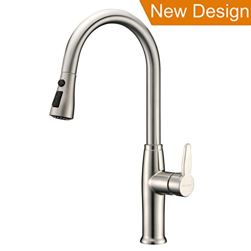 Cheap Brushed Nickel , Refin Pause Function Kitchen Faucet, Single ...