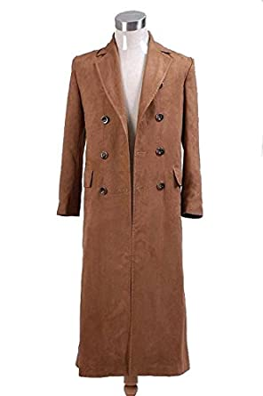 Amazon.com: CosDaddy Brown Long Trench Coat: Clothing
