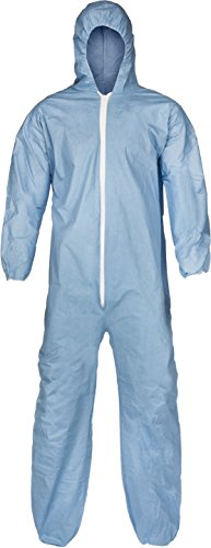 Lakeland Pyrolon Plus 2 Flame-Resistant Disposable Coverall with Hood, Blue, 2X-Large, Elastic Cuff (Case of 25)