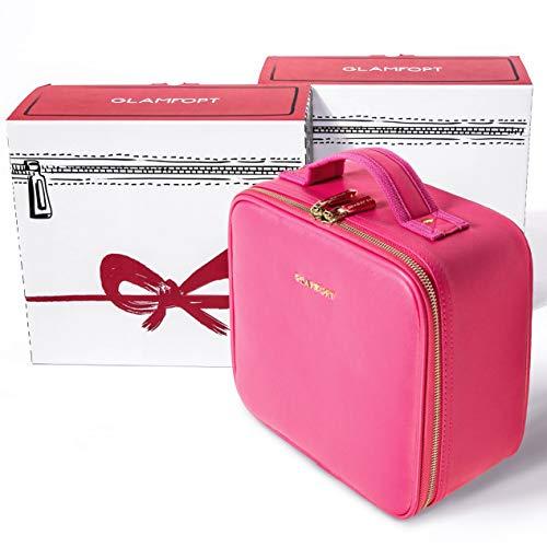 Grip Mini Bag (GLAMFORT Portable Travel Makeup Bag Makeup Case Organizer mini bag with Large Capacity and Adjustable Dividers(Pink Small))
