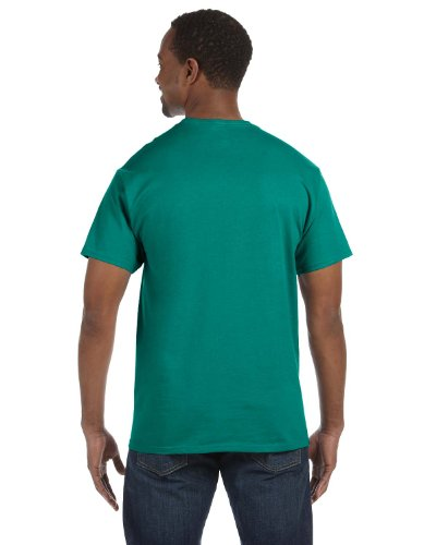 Jerzees 5.6 oz., 50/50 Heavyweight Blend T-Shirt, 3XL, (5.6 Ounce Polyester Moisture)
