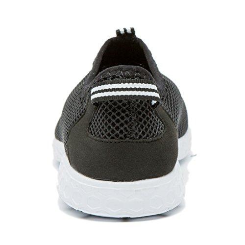 Cusselen-Mann-Luft-Maschen-schnell trocknende Sport-Wasser-Schuhe Schwarz
