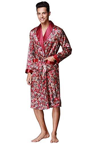 Largo Fashion Cómodos Ropa Hx Seda Similares Camisón Batas Otoño Pijama Tamaños 102 Hombres Y Albornoz Informal wIxxHUq