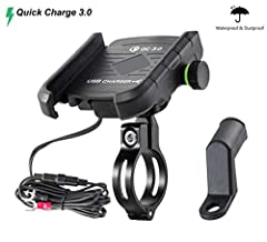 Specification : Dimension: 3.5 x 2.7 x 1 inches  Weight: 7.6 ounces  Material: Auto Grade ABS  Input: DC 12/24V Output: DC 5V 3.6A; 9V 2A;12V 1.5A Package Included:  1 x Phone Mount with QC 3.0 USB Charger  2 x plastic pads  1 x 10A Fuse  1 x...