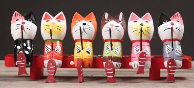 ZAMTAC Cat Figurines Statues Home Entrance Office Desk Decoration Resin covid 19 (Cat Fishing Sculpture coronavirus)