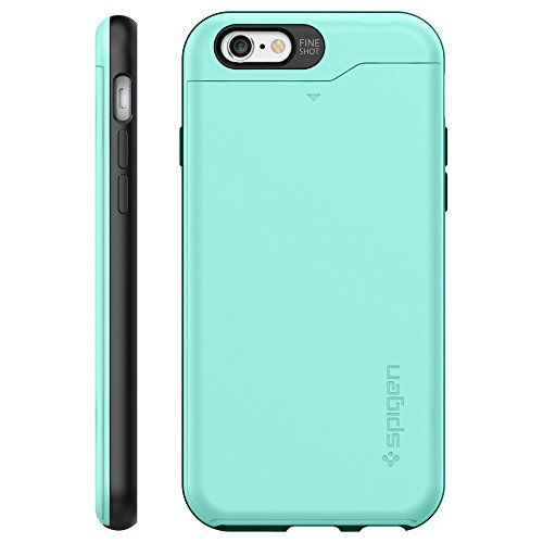 official photos 9aa2f eaa3c Spigen Slim Armor CS iPhone 6 Case with Slim Dual Layer Wallet ...