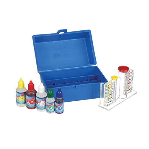 Blue Devil 5-Way OTO Swimming Pool Test Kit- Chlorine/Bromine, pH, Alkalinity and Acid Demand, Includes Easy to Read Vials