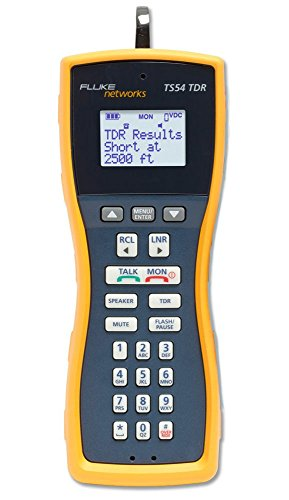 Voice Set - Fluke Networks TS54-BANA Premium Voice Data and Video Telephone Test Set with TDR, Extra-Large Alligator Clips and Test Probe, 4mm Banana