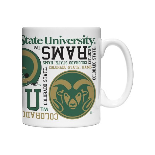 Rams Spirit Mug 15-ounce, 2-Pack (Ncaa Colorado State Rams Glass)