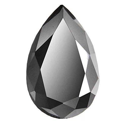 skyjewels Certified 4 Ct Pear Checker Cut Loose Black Diamond by skyjewels