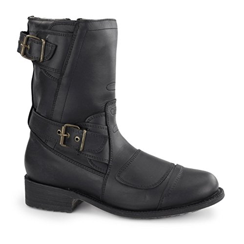 Grinders Mens Route 66 Leather Boots Oily Full Black