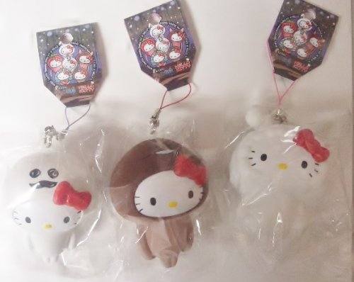 Sanrio Hello Kitty x Nameko Growing Mushroom Squishy Mascot Cell Phone Strap -