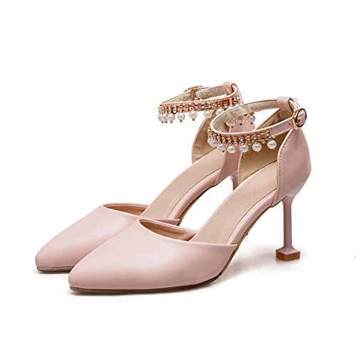 amp;x Al Toe Tacones Mujer Rosa Qin Señaló Tobillo Sandalias La S6ngpd7q