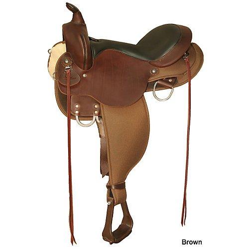 Circle Y Trail Saddles - Circle Y High Horse El Campo Trail Saddle 16in Bla