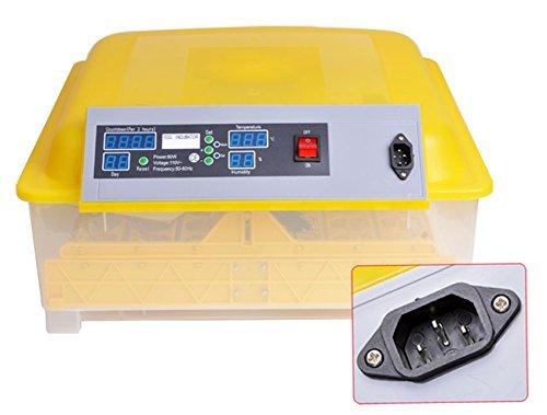 Kemanner Automatic 48 Digital Clear Egg Incubator Hatcher Egg Turning Temperature Control 80W US Plug (48eggs)
