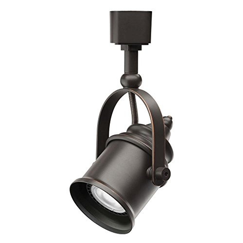 Lithonia Lighting 1-Light Oil Rubbed Bronze LED Track Lighting Bronze Right Track
