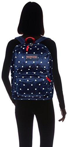 Jansport Label Navy Spangled Plush Moonshine Backpack adult Star Black Superbreak Unisex FqOnwHRTFZ