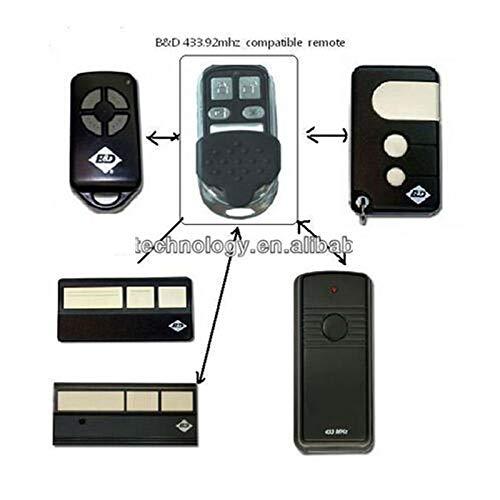 Calvas 2pieces BND B&D garage doors,openers Roller doors replacement remote control FINE