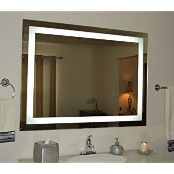 Lighted vanity mirror led mam86036 commercial for Illuminated mirrors ikea
