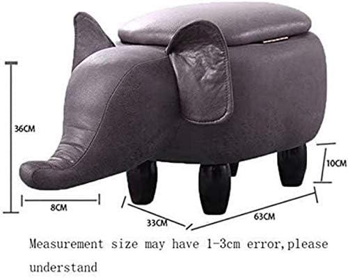 Klappstühle Cartoon Grauer Elefant Fußbank, Multifunktionsspeicher-Lederimitat KidToySofa Hocker ändern Schuhbank, Wohnzimmer Schlafzimmer Dekoration