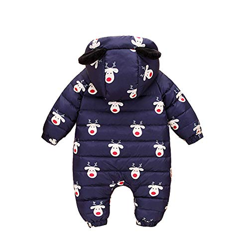 Romper Snowsuit Fairy Snuggly 3 Baby Girl Baby Dark Blue Jumpsuit Warm Romper Boy Winter Pieces T7wwZqYA0
