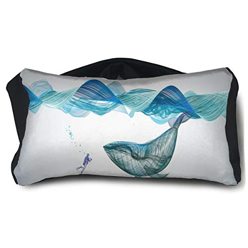 (Eye Pillow Underwater Whale Illustration Stylish Eye Bag Cover Mens Portable Blindfold Train Sleep Protection)