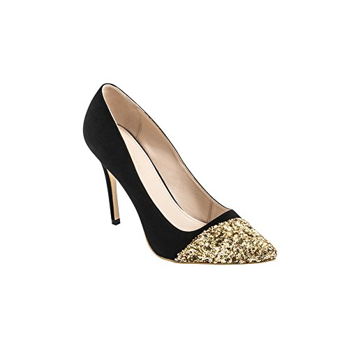 Alysia Women's RUBY Handcrafted Pointed-Toe Dress Pump - Gold - US Size 10
