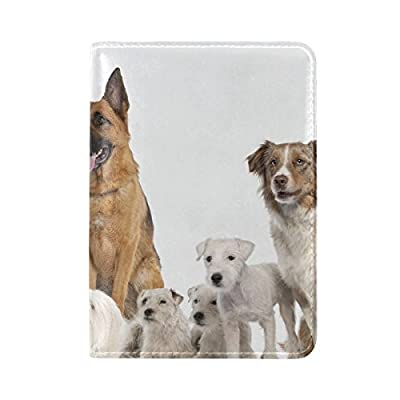 90faecec2be5 70%OFF Dogs Variety Set Sit Leather Passport Holder Cover Case ...