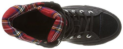 S Hi Sneaker Platform Donna Le Red Tartan Collar Plus Converse Black SqxBwgSd