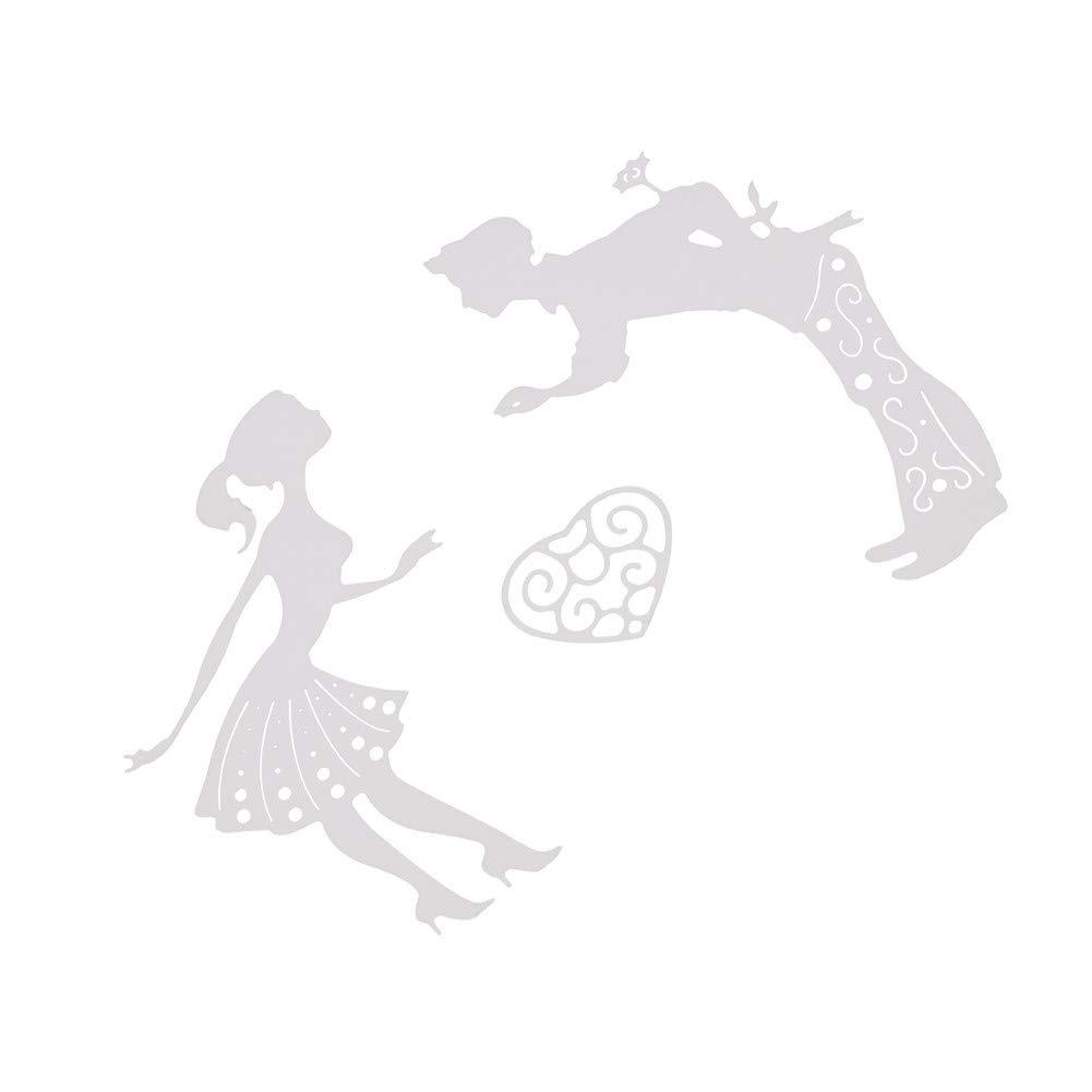DIPOLA Plantillas de Metal para Troquelar,/Álbum de Fotos,Decoraci/ón,Dise/ño de Estrellas Y Amor para Manualidades,Celebraci/ón de Navidad