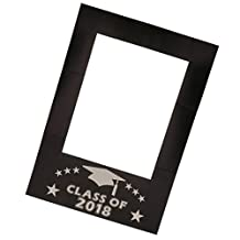 Baoblaze Class of 2018 Paper Chalkboard Selfie Frame Photo Booth Prop Grad Party Toys