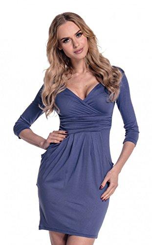Mujeres con Cuello en V Vestido de lápiz con Bolsillos 236: Amazon.es: Ropa y accesorios