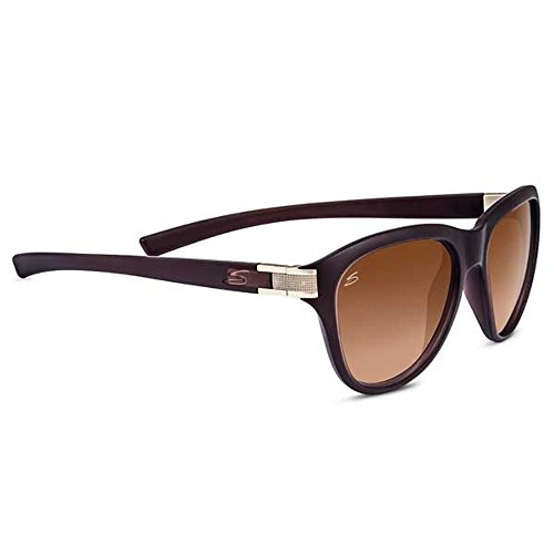 Serengeti Elba Lunettes de soleil Elba Sanded Crystal Brown / Satin Brass Polarized Drivers Gradient