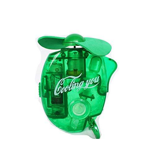Mini Portable Pocket Fan Cool Air Hand Held Battery Travel Blower Cooler Desk-Green
