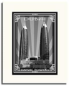 Photo of Damac Tower-Black And White With Silver Border F05-NM (A5)