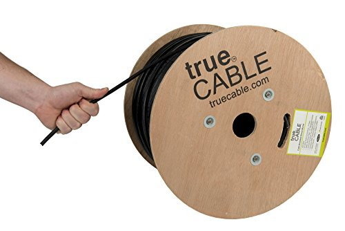 Cat6 Outdoor, Shielded FTP, 1000ft, Waterproof, Direct Burial Rated CMX, 23AWG Solid Bare Copper, 550MHz, ETL Listed, Bulk Ethernet Cable, trueCABLE (Best Cat6 Cable Brand)