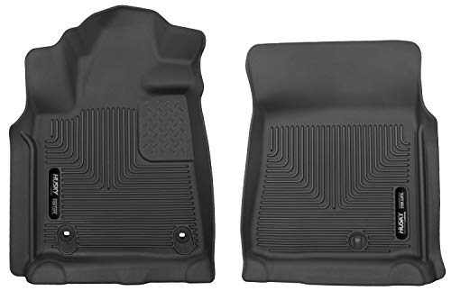 - Husky Liners 53711 Black X-act Contour Front Floor Liners Fits 2012-2019 Toyota Tundra CrewMax / Double Cab / Standard Cab