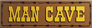 Man Cave Wood Sign - Man Cave Barbwire