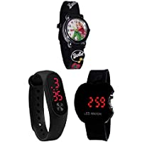 sba prime Analogue & Digital Combo Watch for Boys & Girls Pack 3