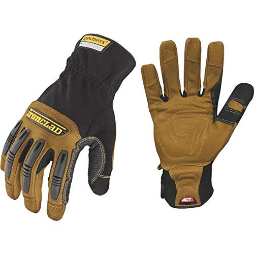 Ironclad Ranchworx Work Gloves RWG2, Premier Leather Work Glove, Performance Fit, Durable, Machine Washable, Sized S, M, L, XL, XXL, XXXL (1 Pair) (The Best Leather Gloves)