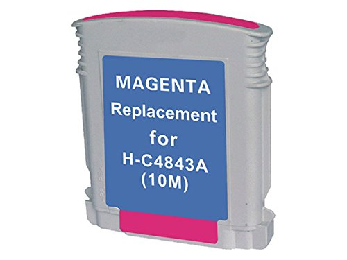 10 C4843a Magenta Ink Cartridge (Monoprice MPI Compatible HP 10M (C4843A) Inkjet, Magenta)