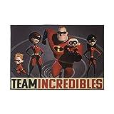 Gertmenian Disney Incredibles Rug Kids Team Carpet, 5x7 Large, Gray