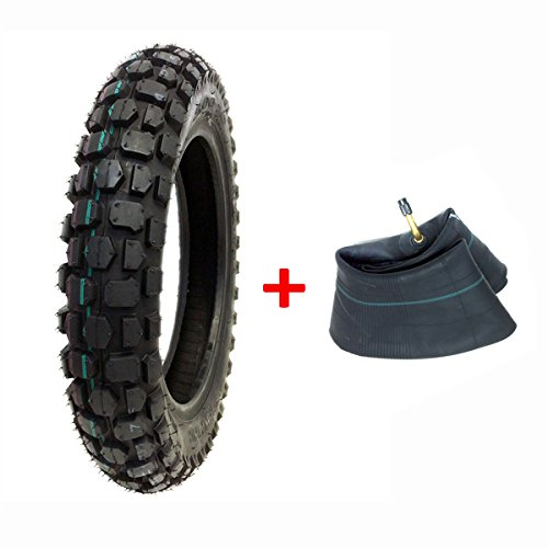 - MMG Combo: Knobby Tire with Inner Tube 3.00-12 Front or Rear Trail Off Road Dirt Bike Motocross Pit