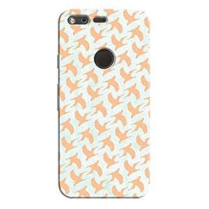 Cover It Up - Pink Bird Print Pixel Hard Case