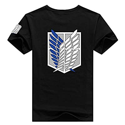 Pulle-A Anime Attack on Titan Shingeki No Kyojin Survey Corps Eren Cosplay Adult T-Shirt