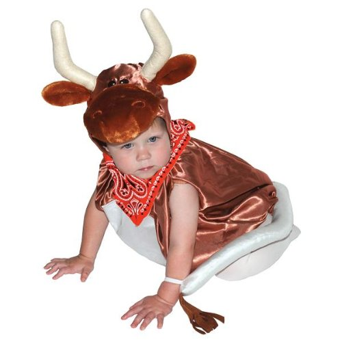 [AM PM Kids! Baby's Steer Costume, Burnt Orange, One Size] (Farmers Dress Up Costumes)