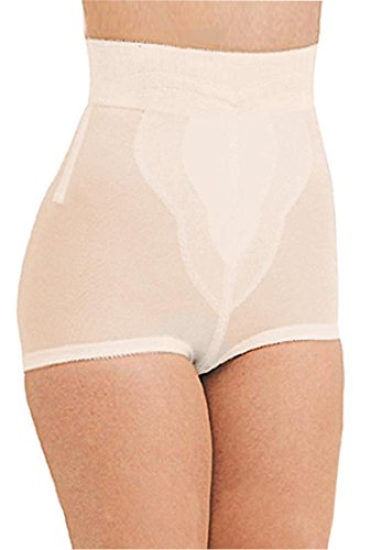 Rago Women's Plus Size Diet Minded Medium Shaping High-Waisted Brief Beige,2Xl