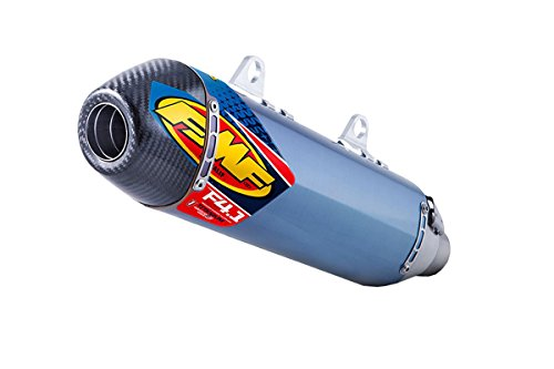 Silencer Fmf Factory 4.1 - 11-15 KTM 450SXF: FMF Factory 4.1 RCT Slip-On Exhaust (Blue Anodized Titanium With Titanium Mid Pipe And Carbon Fiber End Cap)