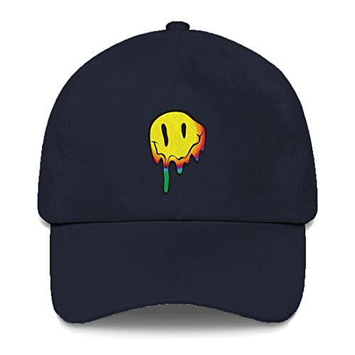 Tcombo Melting Smiley Face Dad Hat (Navy Blue)